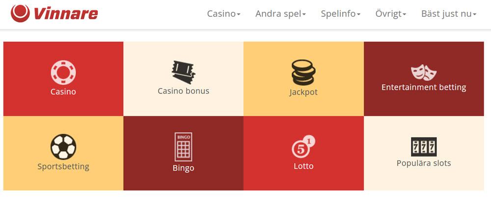 vinnare.se - Sveriges bästa kasino portal